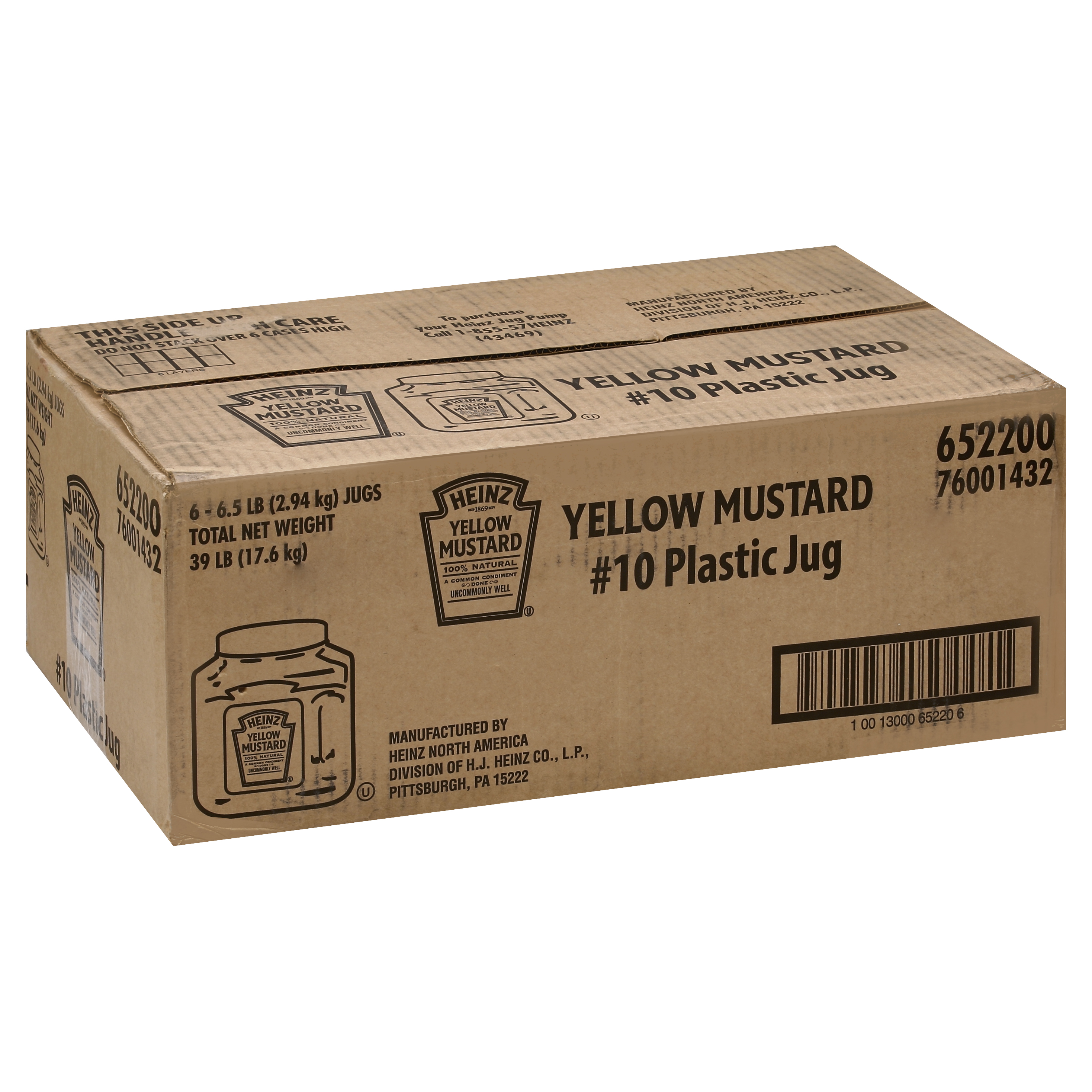 10013000652206 Mustard Yellow Jug 6/104 oz